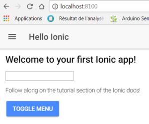 Ionic rendu web